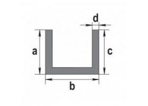 Швеллер алюминиевый 8х8х1 мм АН Вес 0.06 кг