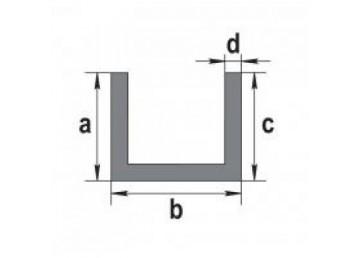 Швеллер алюминиевый 40х40х2 мм БП