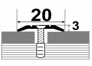 АП-002 Алюминиевый порожек стыковочный гладкий