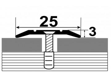 АП-003 Алюминиевый порожек стыковочный гладкий