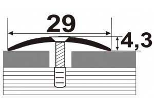 АП-004 Алюминиевый порожек стыковочный гладкий