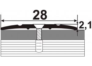 АП-005 Алюминиевый порожек стыковочный гладкий
