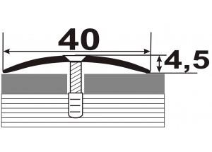 АП-011 Алюминиевый порожек стыковочный гладкий