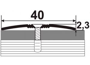 АП-012 Алюминиевый порожек стыковочный гладкий