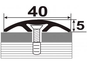 АП-013 Алюминиевый порожек стыковочный гладкий