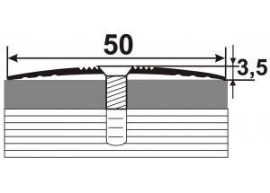 АП-015 Алюминиевый порожек стыковочный гладкий