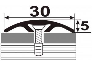АП-016 Алюминиевый порожек стыковочный гладкий