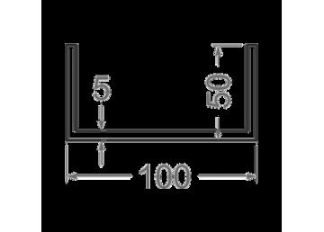Швеллер алюминиевый 100х50х5 мм БП