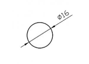 Алюминиевый круг ø16 мм БП Вес 0.545 кг