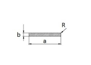 Алюминиевая полоса 30х2 мм АН Вес 0.163кг