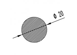 Алюминиевый круг ø20 мм БП Вес 0.851 кг