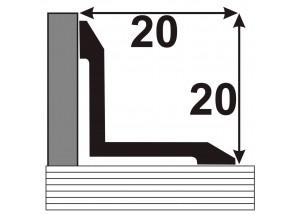 АВ 20-20 Алюминиевый порожек стыковочный гладкий