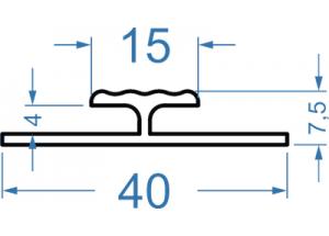 Двутавр алюминиевый 40х7.5 БП