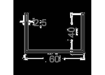 Швеллер алюминиевый 60х4 х2.5