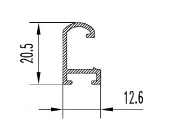 Алюминиевый L профиль 20,5х12,6 мм АН Вес 0.136 кг