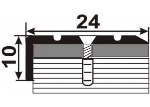 УЛ120  - Алюминиевый порожек лестничный