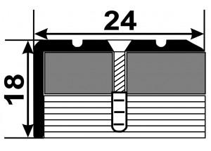 УЛ121  - Алюминиевый порожек лестничный