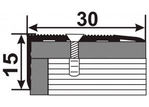 УЛ130  - Алюминиевый порожек лестничный