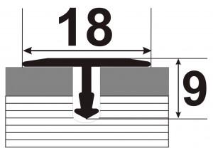 АТ 18 - Алюминиевый порожек для керамической плитки