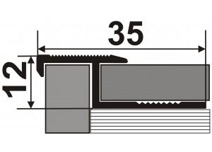 ПЛ 210 - Алюминиевый порожек для керамической плитки