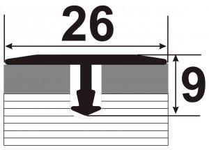 АТ 26 - Алюминиевый порожек для керамической плитки