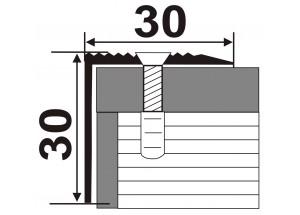 А30*30   - Алюминиевый порожек лестничный