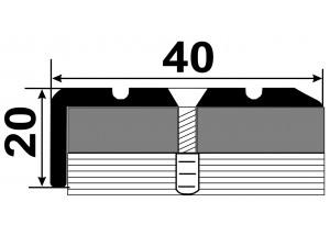 УЛ127  - Алюминиевый порожек лестничный