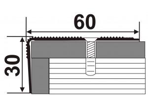 А60*30   - Алюминиевый порожек лестничный