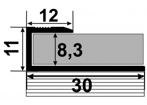 СУ 8 - Стартовый алюминиевый уголок