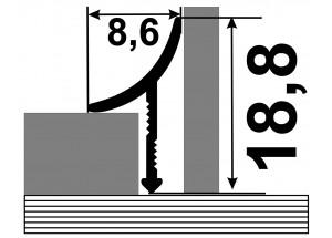 АВП - Алюминиевый порожек для керамической плитки