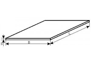 Лист алюминиевый  1050 (аналог АД0, А5) 0,5*1000*2000 mm
