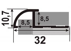 ОАП - Алюминиевый порожек для керамической плитки