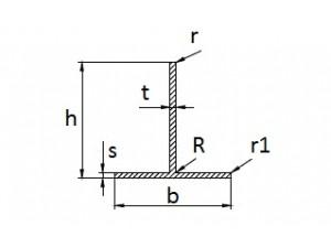 Тавр алюминиевый 24х14,7х1,7 мм АН Вес 0.171 кг