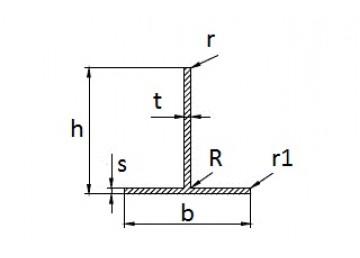 Тавр алюминиевый 50х70х1.8