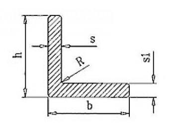 Уголок алюминиевый 140х40х4 мм БП  Вес 1.79